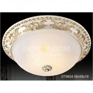 Đèn áp trần tròn mạ đồng vàng thủy tinh DT8604-55x55x18