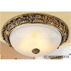 Đèn áp trần tròn mạ đồng vàng thủy tinh dt8605-55x55x18