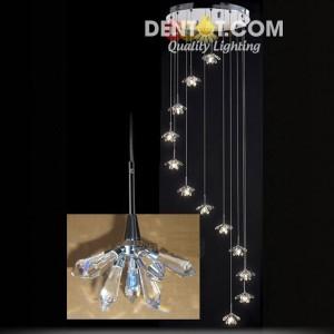 Đèn thả hoa pha lê DT9017D12DAD