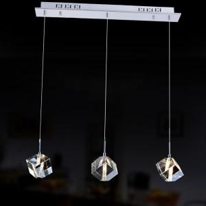 Đèn thả pha lê khối 3 quả DT9020D03