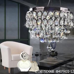 Đèn mâm pha lê LED áp trần hoặc thả 9075D06B-tha