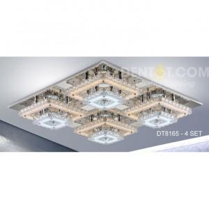 Đèn mâm vuông cao cấp pha lê DT8165-4bong