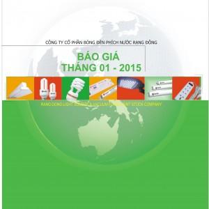 Catalog báo giá đèn rạng đông 2015