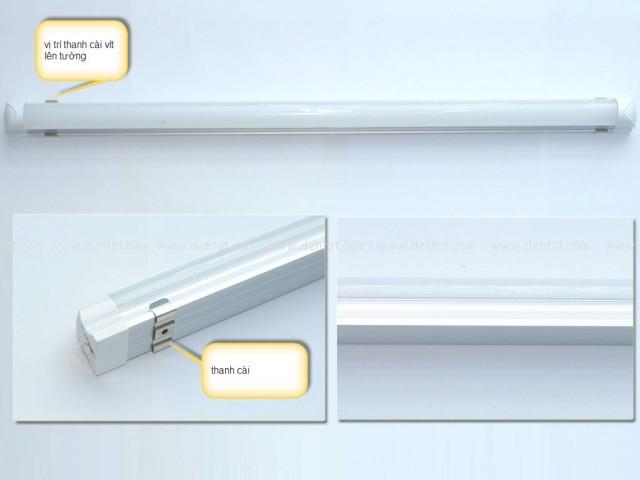Cách lắp đèn tuyp led liền máng