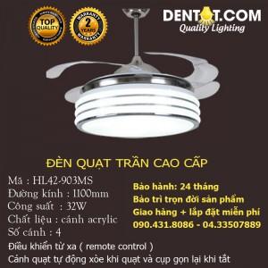 Quạt trần đèn LED cao cấp DTHL42-903MS