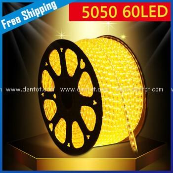 Led dây 220v 100m 5050 vàng