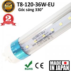 Tuýp LED HUMITSU Nhật Bản 36W siêu sáng, góc chiếu 330 độ