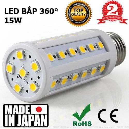 Đèn LED bắp ngô 360 độ 15W Nhật Bản HMS-CO15W