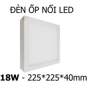 Đèn ốp nổi LED 18W vuông