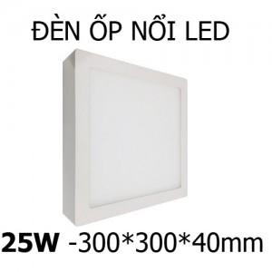 Đèn ốp trần nổi LED vuông 25W