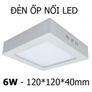 Đèn ốp trần nổi LED 6W vuông