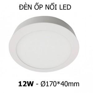 Đèn ốp nổi LED tròn 12W