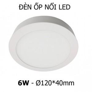 Đèn ốp nổi trần tường LED 6W tròn