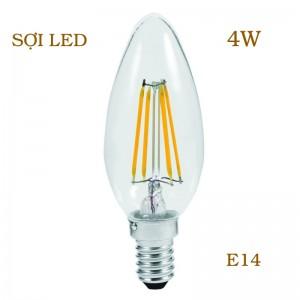 Bóng LED sợi E14 4W