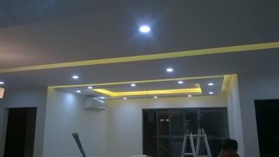 Lắp đèn LED trang trí chung cư Vinaconex Xuân Mai Hà Đông