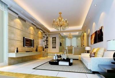 Phòng khách hiện đại và cuốn hút từ hệ thống đèn âm trần